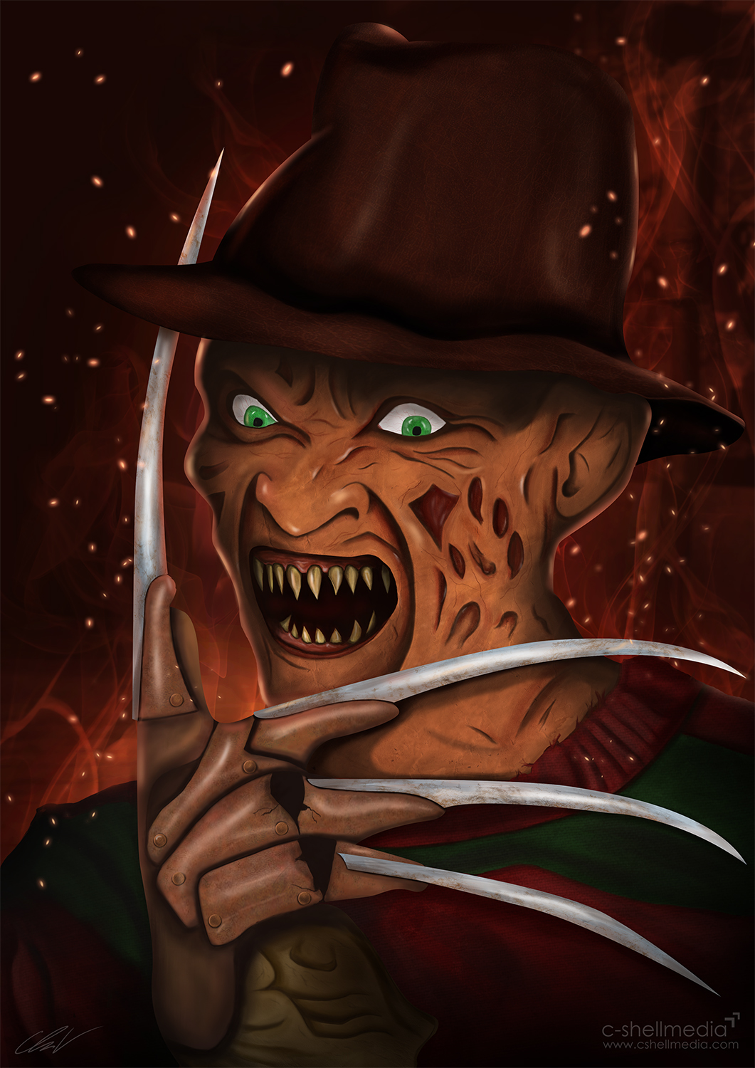 Fan Art - Freddy Krueger